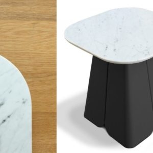 miiing table appoint archipel marbre blanc noir boutique meuble toulouse