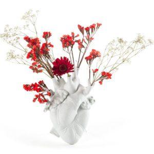 Vase en coeur humain blanc Toulouse Boutiques