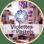 Souvenir Toulouse boutique violettes et pastels