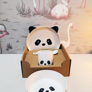 Set de vaiselle en Bamboo Liewood Panda Toulouse boutique enfant