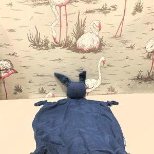 Doudou plat Agnete lapin bleu Liewood
