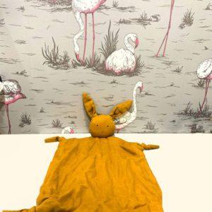 Doudou plat Agnete lapin moutarde Liewood Toulouse boutique enfant