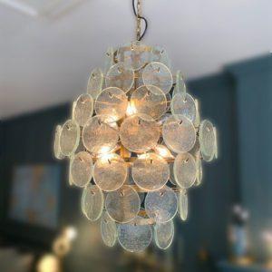 Lustre avec pastille en verre toulouse luminaire