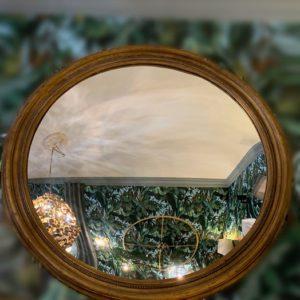 Miroir rond cadre doré boutique déco toulouse