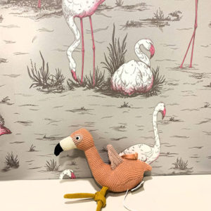Mobile musical Angela Flamingo Liewood rose Toulouse boutique enfant