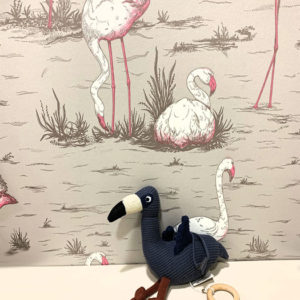 Mobile musical Angela Flamingo Liewood bleu Toulouse boutique enfant