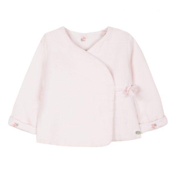 Veste rose pâle réversible œillets Toulouse boutique