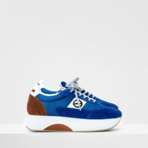 No-name flex jogger mesh/cowsuede royal/royal