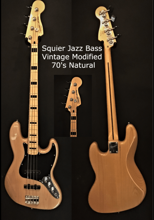 Squier Jazz Bass Vintage modified 70s Valley and Blues ToulosueBoutiques.com