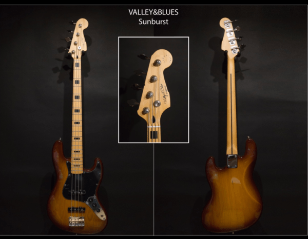 Valley & Blues Jazz Bass Vintage Sunburst ToulouseBoutiques.com
