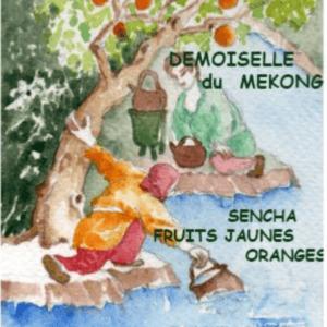 thé vert pêche orange rose jasmin
