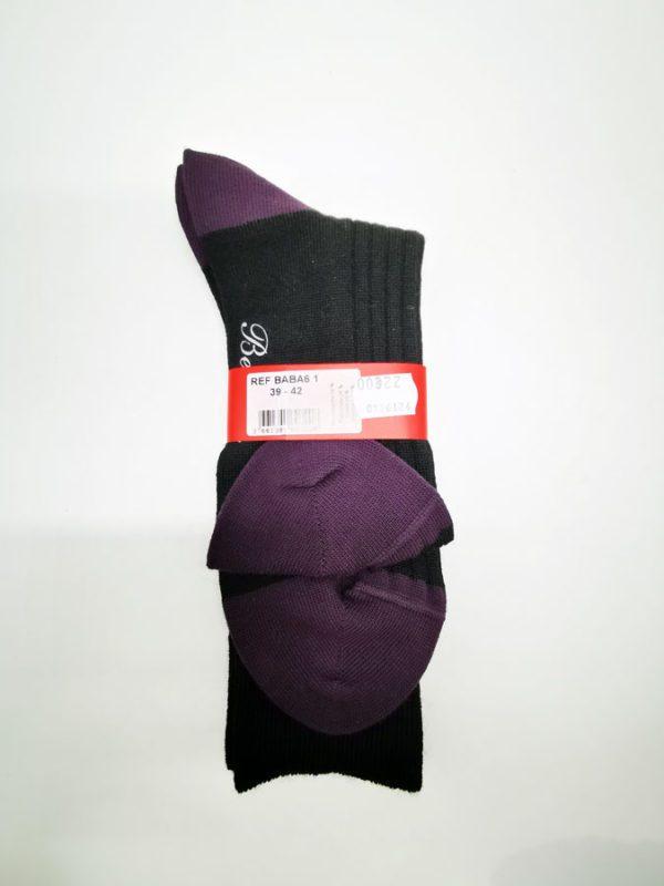 Berthe-aux-grands-pieds-Toulouse-Chaussettes-Henri-Dorie-noir-raisin