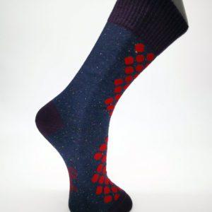 Chaussette-à-Pois-rouges-sur-fond-bleu-Berthe-aux-grands-pieds-Toulouse-3