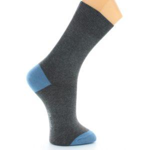 Chaussettes Alain Colas gris-bleu Berthe aux grands pieds Toulouse