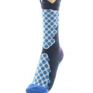 Chaussettes Pois Bleus Berthe aux grands pieds Toulouse
