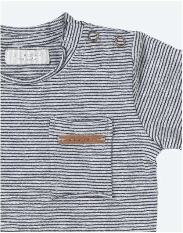t-shirt Longsleeve stripe black/white 2 Nixnut