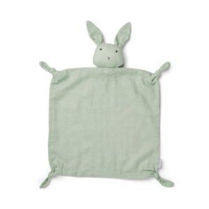 Agnete Cuddle Cloth - Menthe poussiéreuse de lapin-doudou plat liewood