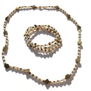 Bracelet triple ou Collier fermoir aimant Perle Bijoux Atelier114 Toulouse