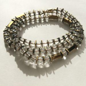 Bracelet triple ou Collier fermoir aimant Cristal de Roche Bijoux Atelier114 Toulouse