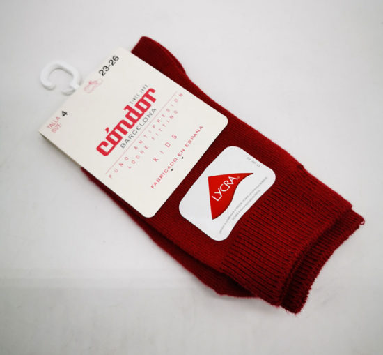 chaussette-condor-barcelona-rouge