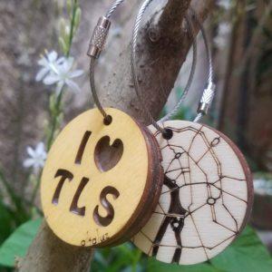 porte-clé bois Toulouse
