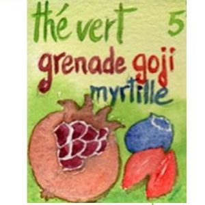 Thé vert grenade goji