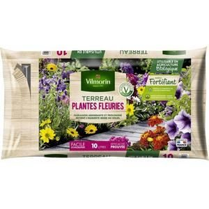 vilmorin terreau plantes fleuries 10-l