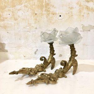 Appliques dragon en bronze