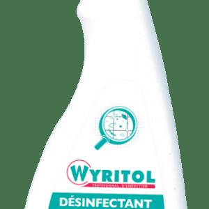 désinfectant nettoyant WYRITOL Spray 750 ml toutes surfaces