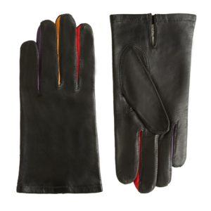 F100 noir multicolore, double soie Maison Fabre