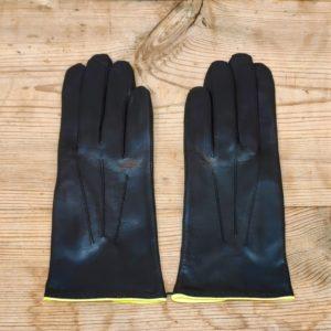 F101 noir, neon jaune, double soie Maison Fabre