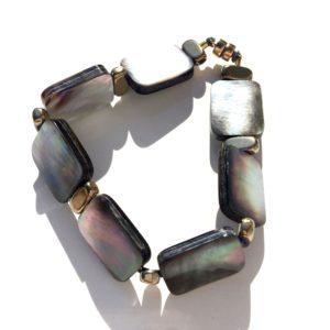 2363 Bijoux Bracelet Nacre Hématite Atelier 114 Toulouse