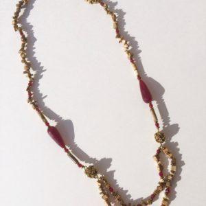2625 Bijoux Collier Jaspe Paysage Hématite Atelier 114 Toulouse