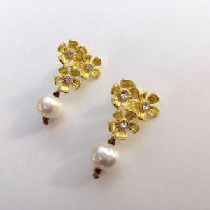 5852 Bijoux Boucle d'oreille Perle d'eau douce de culture Atelier 114 Toulouse