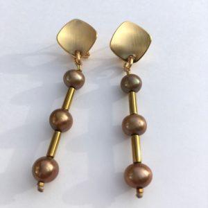 5858 Bijoux Boucle d'oreille Perle d'eau douce de culture Atelier 114 Toulouse