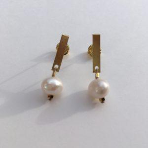 5859 Bijoux Boucle d'oreille Perle d'eau douce de culture Atelier 114 Toulouse