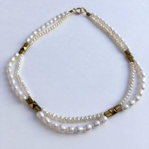 5878 Bijoux Collier Perle de culture d'eau douce Atelier 114 Toulouse