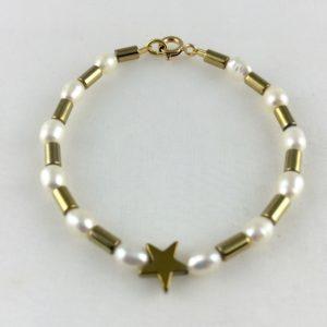 Bracelet Perle de Culture d'eau douce Hématite