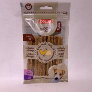Mooky poulet fromagetiglies small x 8 100 g zolux