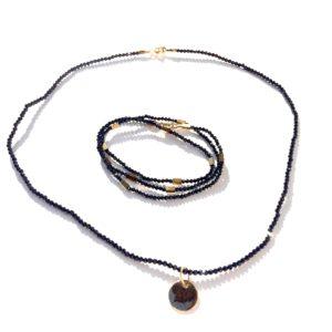 Bijoux Bracelet triple fermoir aimant spinelle Collier Médaille Atelier 114 Toulouse