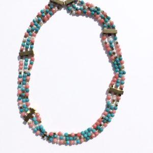 #Atelier114#bijoux#collier#turquoise reconstituée#bambou#perledeculturedeaudouce#hématite #bijouxcreateur#Toulouse#France